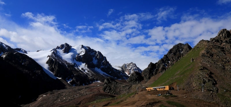 Sights of mountains of Northern Tien-Shan.
