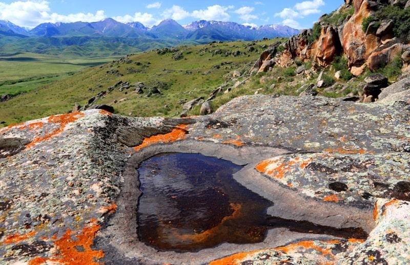 Mountains and foothills of Dungarsky Ala-Tau.