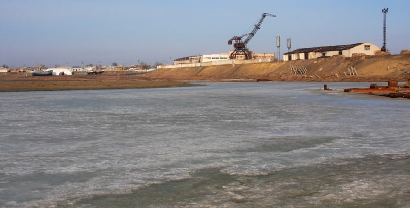 Environs of Small Aral Sea.