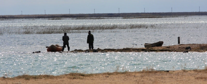 Fishermen on the Small Aral Sea.