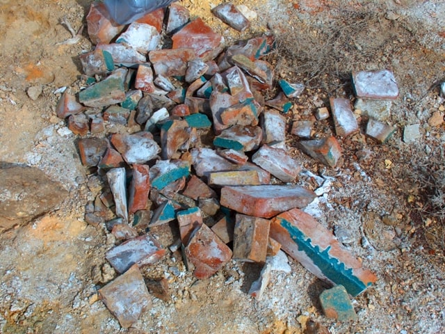 Archaeological finds near the mausoleum of Kerderi.