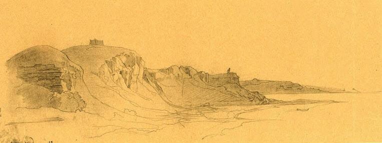 Karzundi tract in the vicinity of the Aral Sea. Drawing by Taras Shevchenko. 28.VII.1849.