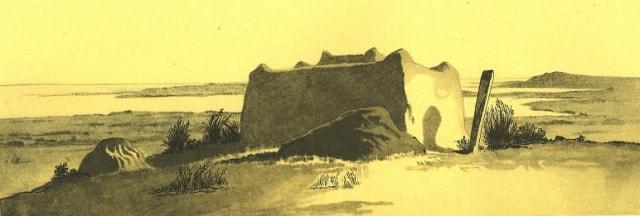 Могила Мула Дустанова на полуострове Куланды. 1849 год.