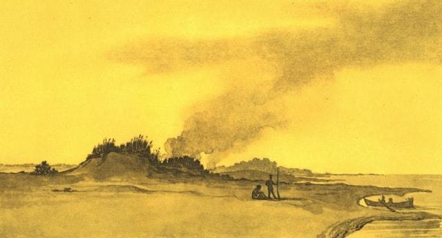 Берег полуострова Куланда. 1849 год.