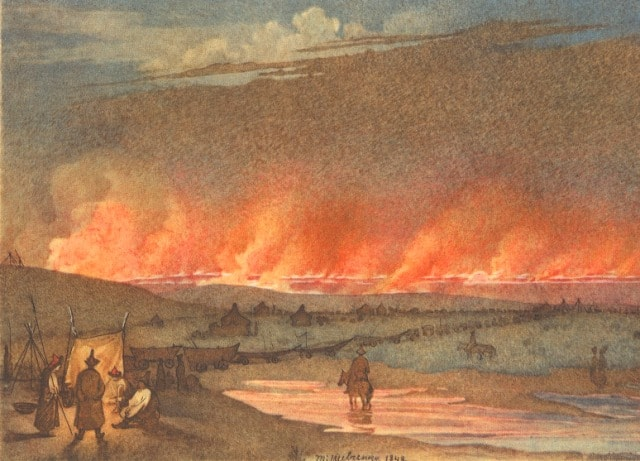 Пожар в степ. 1848 год.
