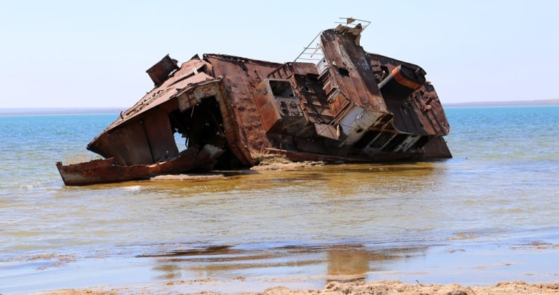 Environs of the North Aral Sea.