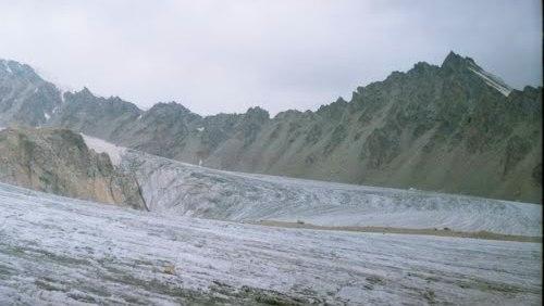 Вершина Искра и ледник Дмитриева.