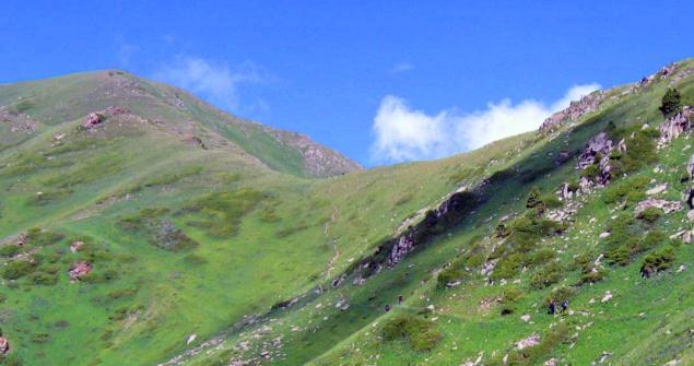 Бутаковский перевал вид на север.