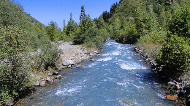 Река Иссык.
