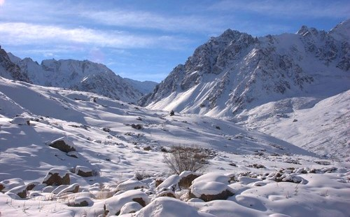 Долина Левого Талгара зимой.