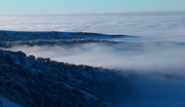 Туман в урочище Медеу.
