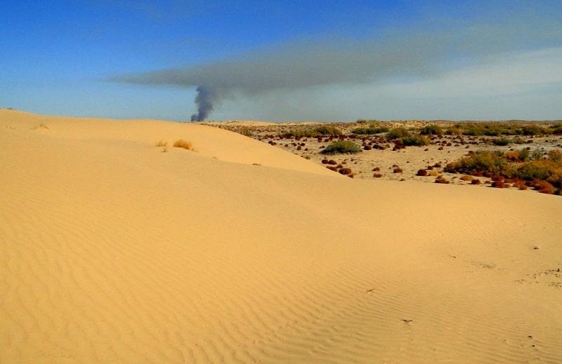 Kyzyl Kum the desert in Kazakhstan.