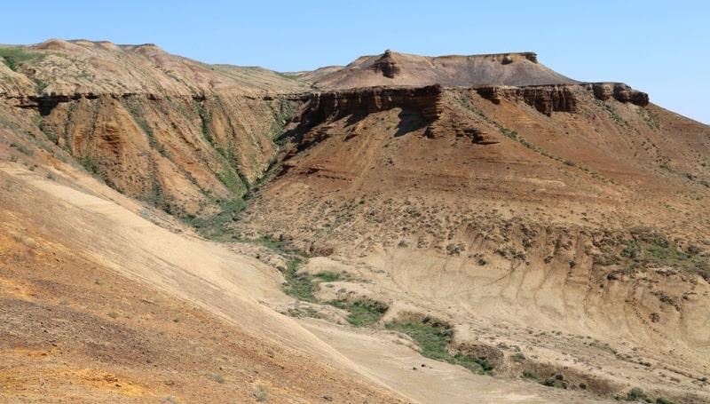 The mount Karasandyk and environs.