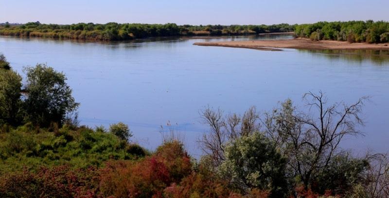 Syr-Darya river.