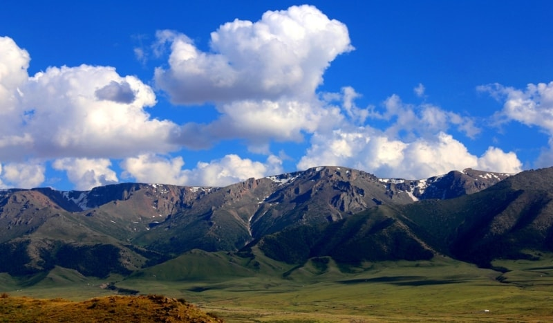 Northern slopes of Zhungar Alatau.