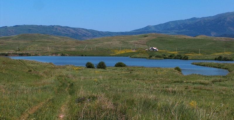 Lake Mikitovo in Dzungarskiy Ala-Tau.