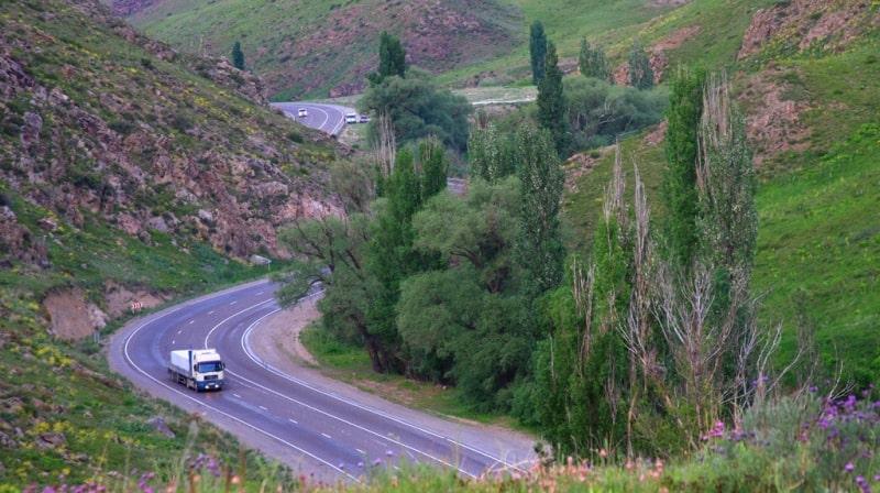 Kordai Pass and environs.