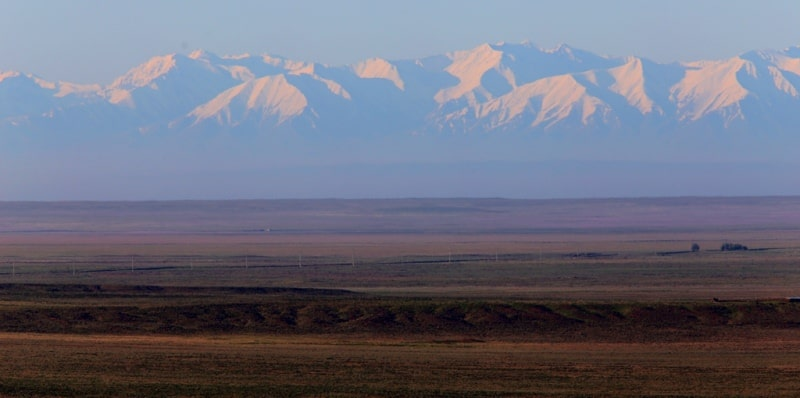 Mountains of the Kyrgyz Range in Kazakhstan.