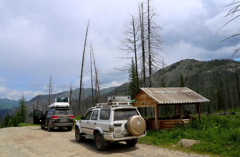 По дороге на озеро Рахмановское.