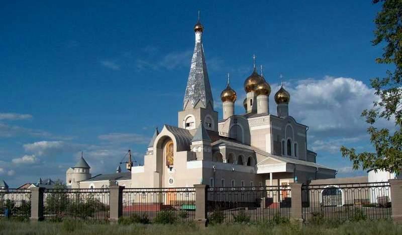 The Orthodox temple of Karaganda.