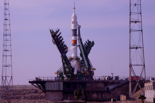 The ship of the Soyuz on a launching pad number 1.