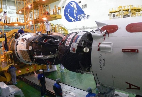 Ship Soyuz in the integration and test building.