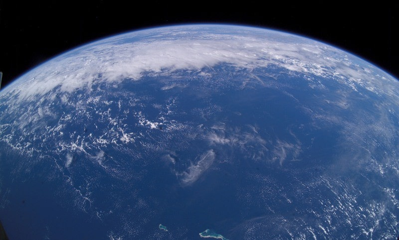 A view of Earth from the International Space Station. Photo of Roskosmos.