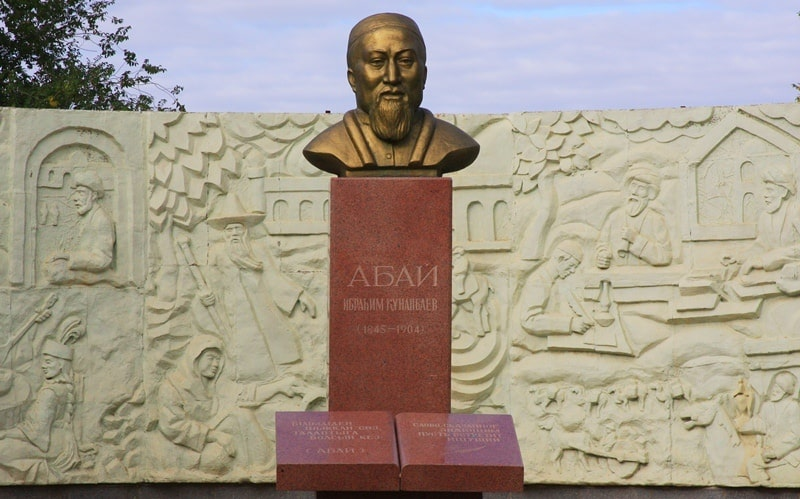 A monument to Abay Kunanbayev in the town of Baikonur. Alexander Petrov photo.