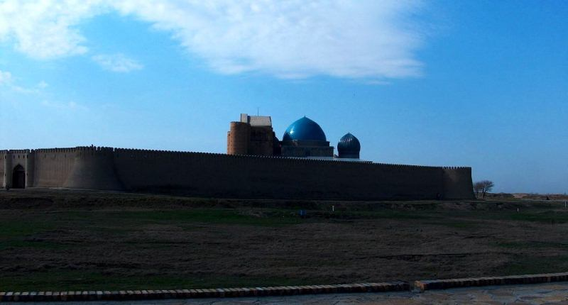 Mausoleum in Turkestan.
