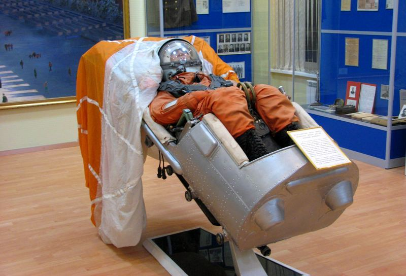 Exhibits in the museum of astronautics at Baikonur Cosmodrome. Photos by Alexander Petrov.