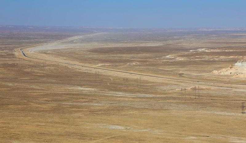 Дорога Актау - Бейнеу. Окрестности сора Тузбаир.