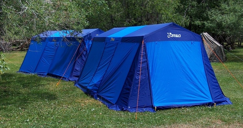 Four-seater tents. In a tent there are two certain rooms, in each of which can be placed on two persons. In rooms it is possible to establish camp-beds, height of tents 2 meters. Production Korea.