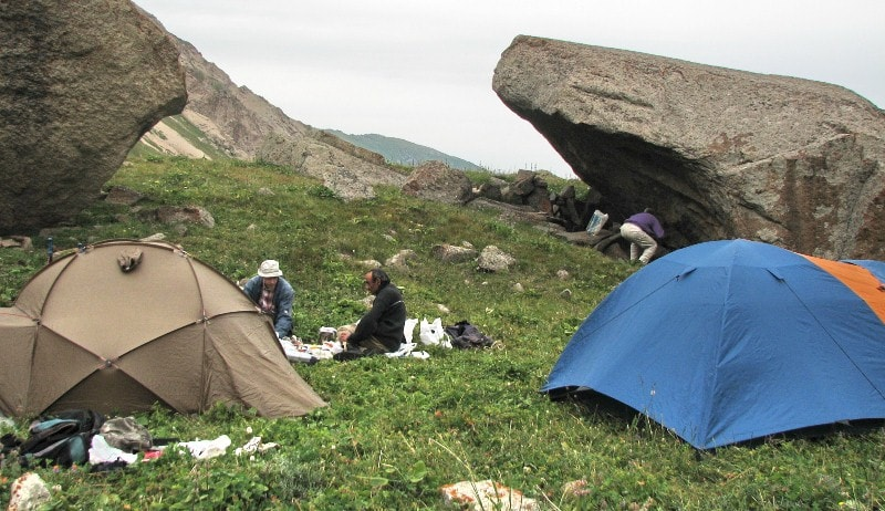 Tents for trekking and hiking.