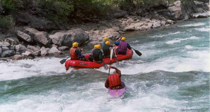 The rafting on the river Chilik. Bartogay a canyon.