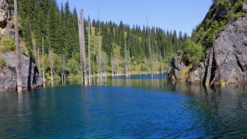 Озеро Каинды. Кольсайский национальный парк.