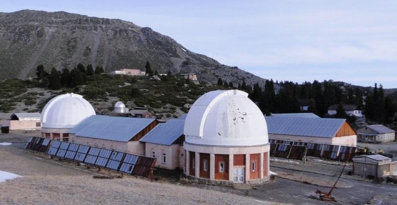 Обсерватория ГАИШ в Большом Алматинском ущелье.
