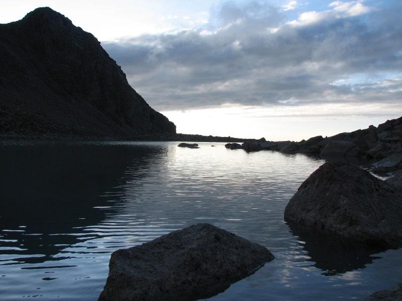 lake Morennoe in gorges Kaskelen.