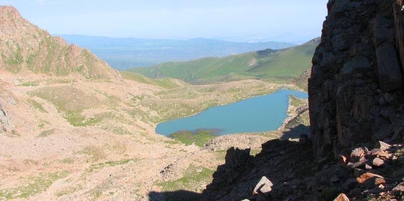 lake Aksai in mountains Northern Tien-Shan.