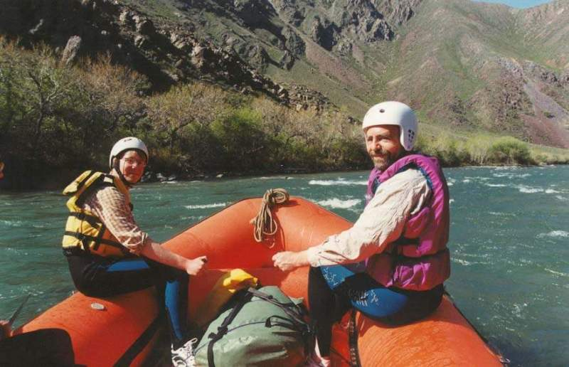The rafting on the river Chilik. Bartogai a canyon.