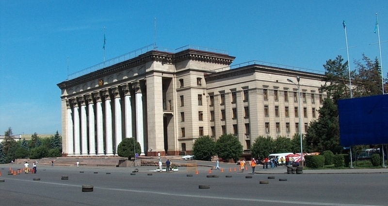 The Former building of Ministerial council Kazakh SSR.
