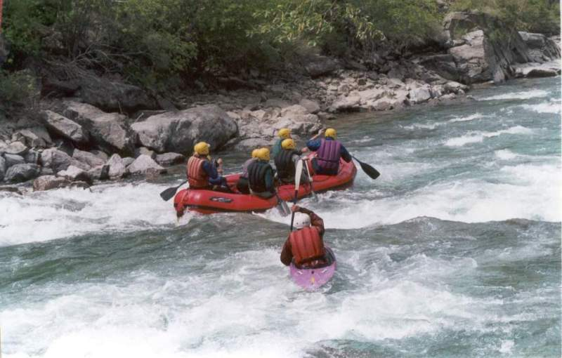 Rafting on the river Chilik. Bartogai a canyon.