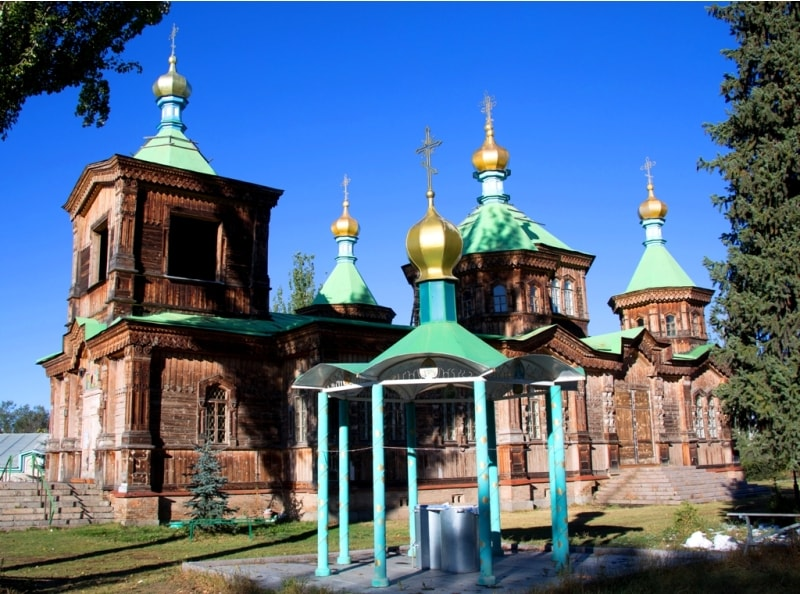 Troiskay church in the city of Karakol. Issyk-Kul area, the Kyrgyz Republic.