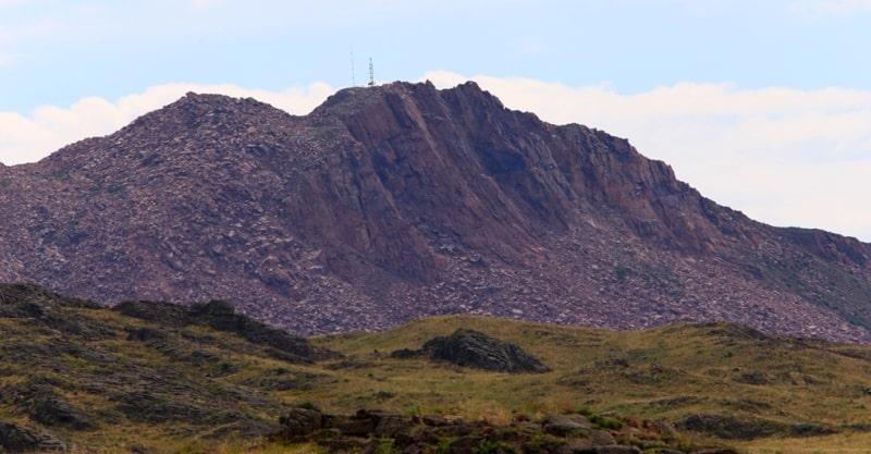 Mount Degelen 1084 meters above sea level. The Degelen Massif.