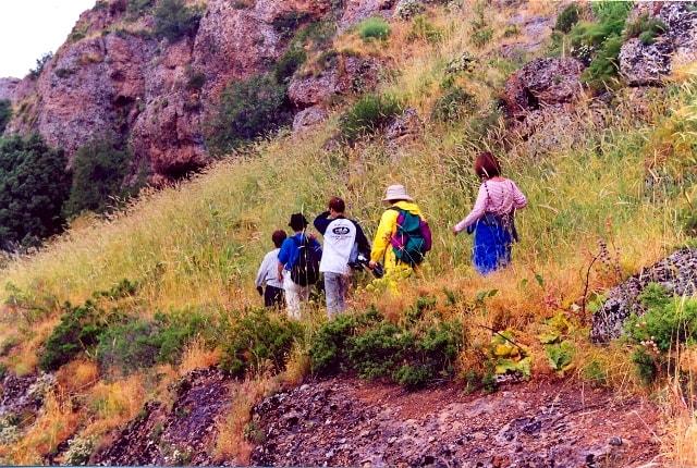 Спуск в каньон Аксу.