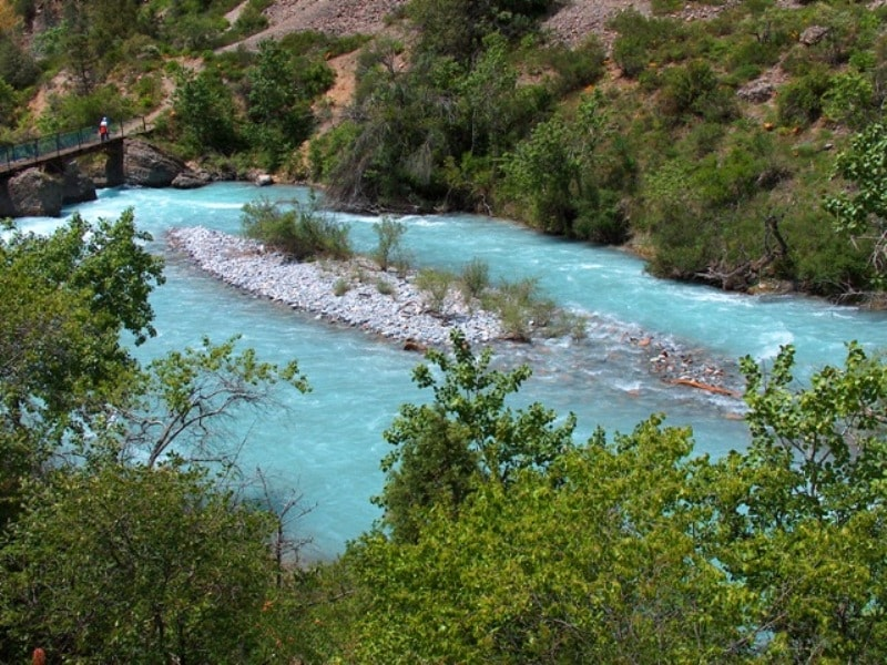The river Aksu in Aksu-Zhabagly reserve.
