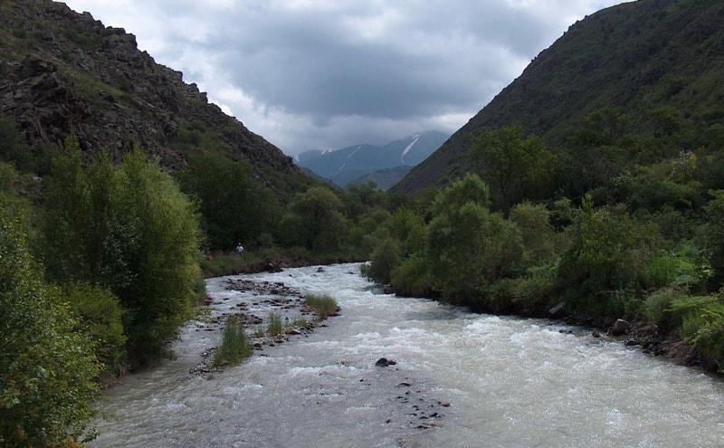 В ущелье Киши-Каинды заповедника Аксу-Жабаглы.