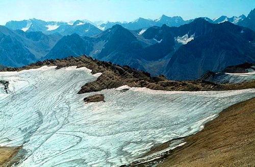 Glaciers of reserve Aksu-Zhabagly.
