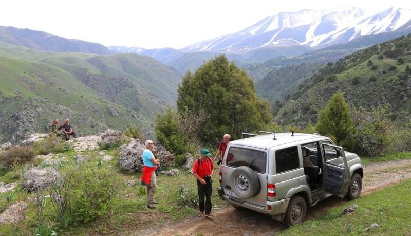 Автомобильный маршрут в заповеднике Аксу-Жабаглы в ущелье Киши-Каинды.