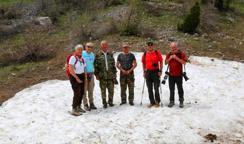 Группа туристов из Австрии в ущелье Киши-Каинды. В апреле 2017 года.