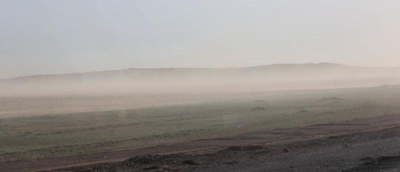 Пыльная буря.